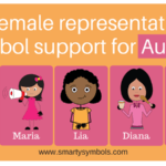 The female representation in symbol support for Autism