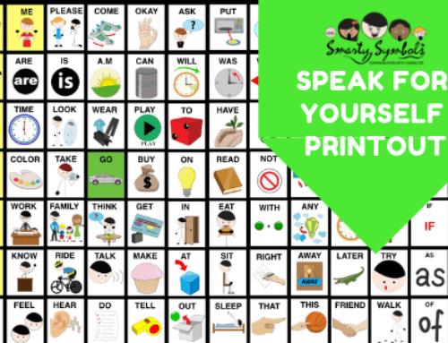 Speak for Yourself updated symbols key